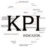 Облако слова обзора плана Kpi Стоковое Изображение