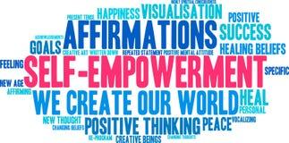 Облако слова полномочия собственной личности иллюстрация вектора