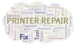 Облако слова ремонта принтера бесплатная иллюстрация