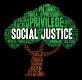 Облако слова социальной справедливости Стоковое фото RF