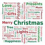 Облако слова - с Рождеством Христовым Стоковое фото RF