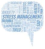 Облако слова управления стресса бесплатная иллюстрация
