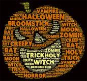 Облако слова хеллоуина Стоковое Изображение