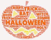 Облако слова хеллоуина Стоковое Фото