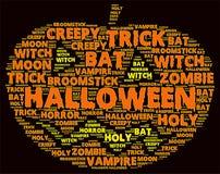 Облако слова хеллоуина Стоковые Фотографии RF