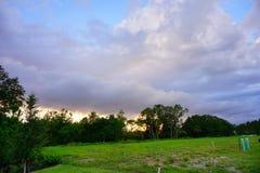 Облако солнца Флориды установленное Стоковое Фото