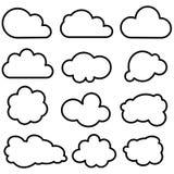 Облако формирует собрание Стоковое Фото