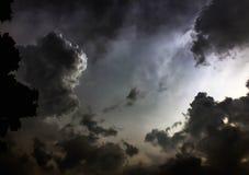 Облако черного неба предыдущее Стоковое Фото