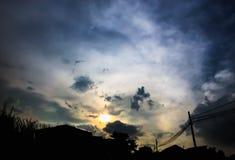 Облако черного неба предыдущее Стоковое Изображение RF