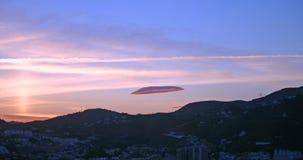 облако 2 линзовидное Стоковая Фотография