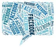 Облако Facebook стоковые фотографии rf