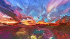 Области абстрактного ландшафта Стоковое фото RF