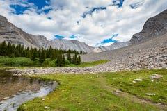 Область озер опарника соленья в лете Стоковые Фото