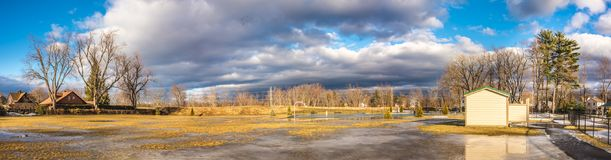 Облачное небо над городом Westfield Стоковые Изображения RF