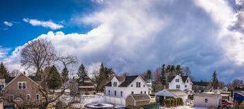 Облачное небо над городом Westfield Стоковые Фото