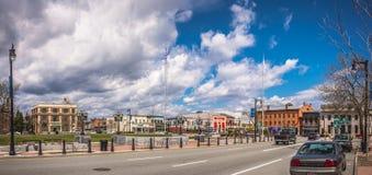 Облачное небо над городом Westfield Стоковое Изображение