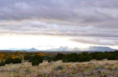 Облачный покров в galisteo Неш-Мексико стоковое изображение