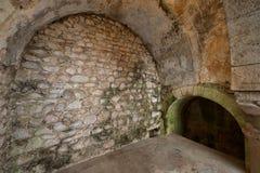 Облицуйте сдобренные стены арабских ванн в Хероне стоковые изображения