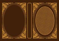 Обложки книги классики вектора Декоративные винтажные крышка или рамка для книг Оно нарисовано нормальным размером Вы можете изме иллюстрация штока