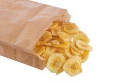Обломоки банана на белой предпосылке Стоковое Изображение RF