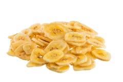 Обломоки банана на белой предпосылке Стоковые Изображения