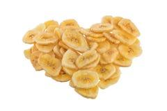 Обломоки банана на белой предпосылке Стоковые Фотографии RF