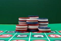 обломоки играя в азартные игры стоковое изображение