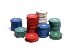 Обломоки казино на белой изолированной предпосылке стоковая фотография rf