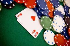 обломоки карточек играя в азартные игры Стоковая Фотография RF