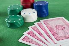 обломоки карточек играя в азартные игры Стоковое фото RF