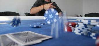 обломоки летая покер Стоковые Изображения RF