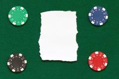 Обломоки покера стоковое фото