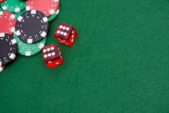 обломоки dices играть в азартные игры 6 Стоковое Изображение
