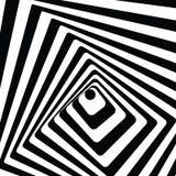 обман зрения тоннеля 3d Черно-белая предпосылка вектора Стоковые Изображения RF