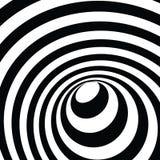 обман зрения тоннеля 3d Черно-белая предпосылка вектора Стоковые Изображения