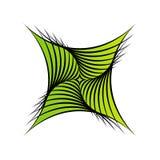 Обман зрения striped конспектом снованный иллюстрация вектора