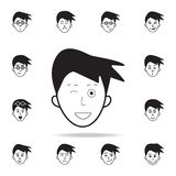 обман на значке стороны Детальный набор лицевых значков эмоций Наградной графический дизайн Один из значков собрания для вебсайто иллюстрация вектора
