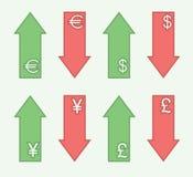 Обменные курсы - тенденции иллюстрация штока