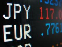 обменные курсы Стоковое Изображение RF