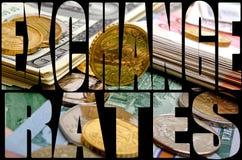 Обменный курс валюты девизов в долларах Стоковая Фотография
