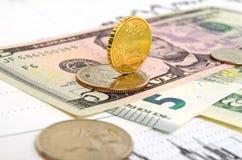 Обменный курс валюты девизов в долларах евро Стоковые Фото