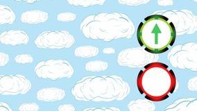 Обменный курс на облаках иллюстрация вектора