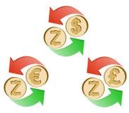 Обменяйте zcash к доллару, евро и английскому фунту бесплатная иллюстрация