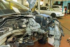 Обмен двигателя стоковое фото rf