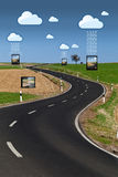 обмен данными облака стоковые фотографии rf