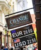 Обмен денег, валютная биржа Стоковые Фотографии RF