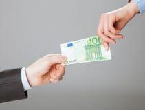 Обмен денег стоковое фото rf