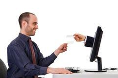 обмен карточки стоковое фото rf