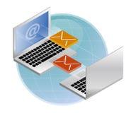 обмен электронной почты Стоковое Изображение