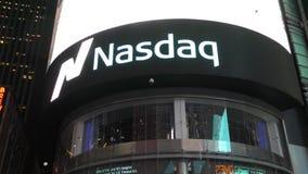 Обмен NASDAQ, Нью-Йорк акции видеоматериалы